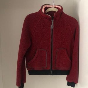 Free People Teddy Bomber Jacket